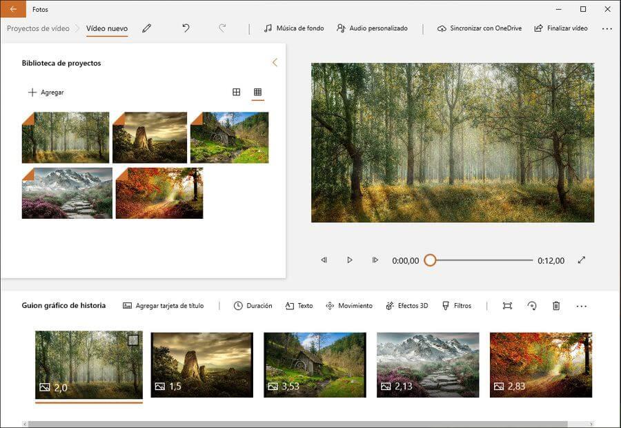 Proyectos de vídeo: la app gratuita de Windows 10 para crear vídeos
