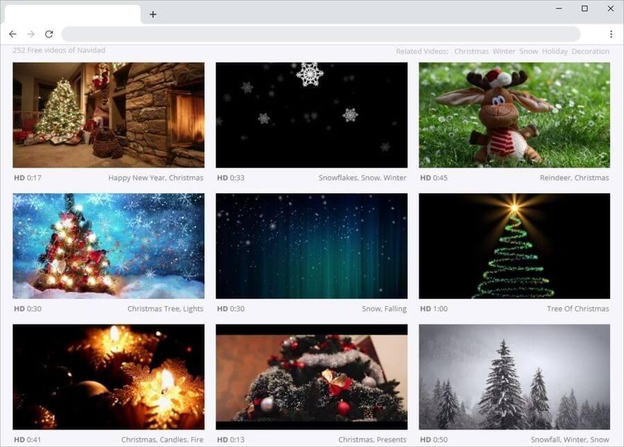 Vídeos de Navidad gratis para descargar en el sitio de Pixabay