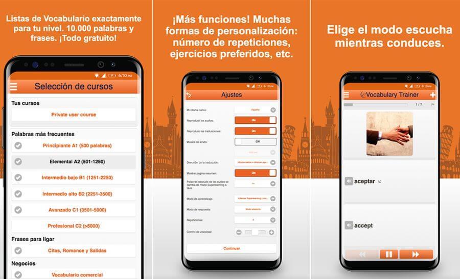 App para aprender inglés gratis en tu teléfono Android