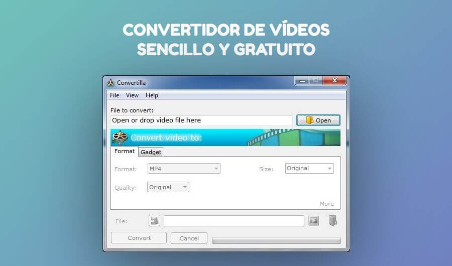Convertidor de vídeos sencillo para Windows: Convertilla