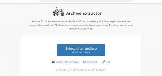 Extraer archivos comprimidos online