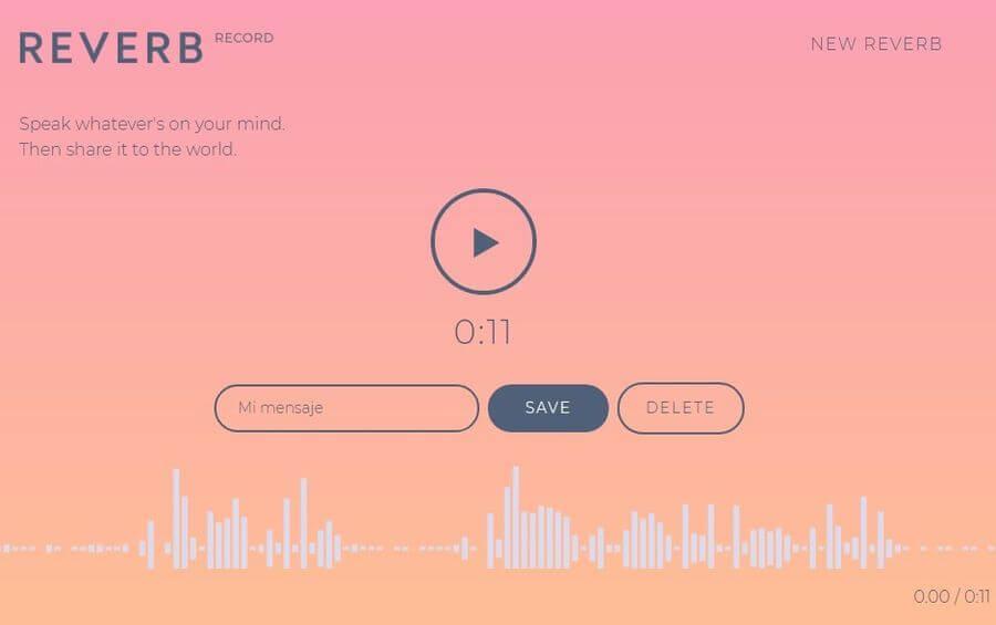Grabar y compartir mensajes de voz online