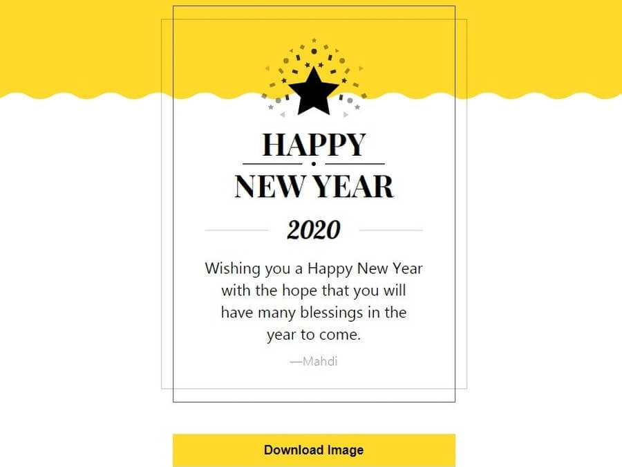New Years Card Maker: sencilla aplicación para crear felicitaciones de Año Nuevo