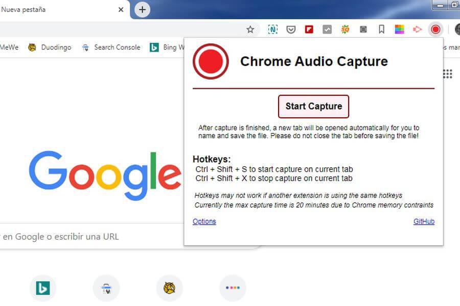 Chrome Audio Capture: graba el audio de cualquier pestaña en Chrome
