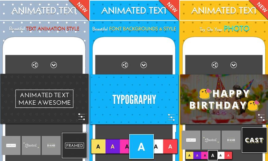Crear animaciones de texto en Android gratis con la app Animated Text