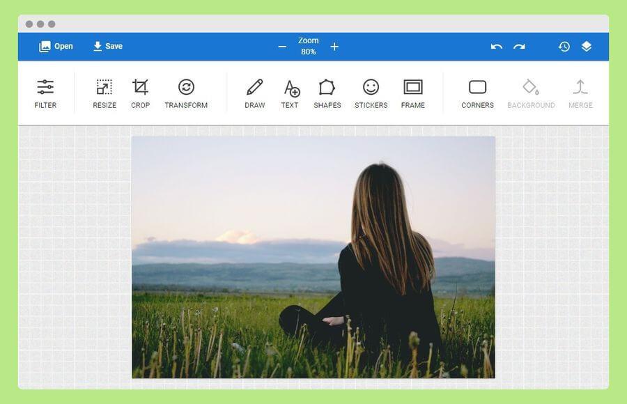 Editor fotográfico online y gratuito muy fácil de usar