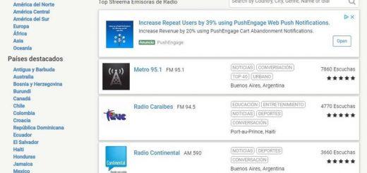 Escuchar emisoras de radio online en Streema