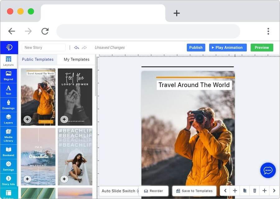 MakeStories: crear historias visuales para la web de forma simple