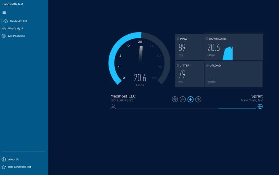 Medir velocidad de Internet en Windows 10 con la app gratuita Speed Test