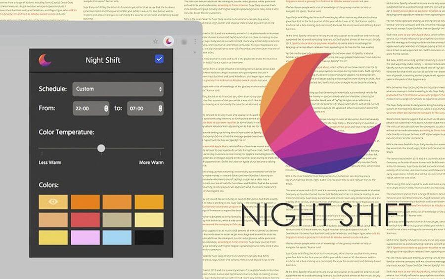Night Shift: extensión para Chrome que cuidará tu visión