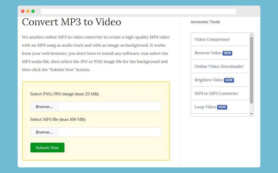 Convertir un Mp3 y una imagen a vídeo de forma gratuita