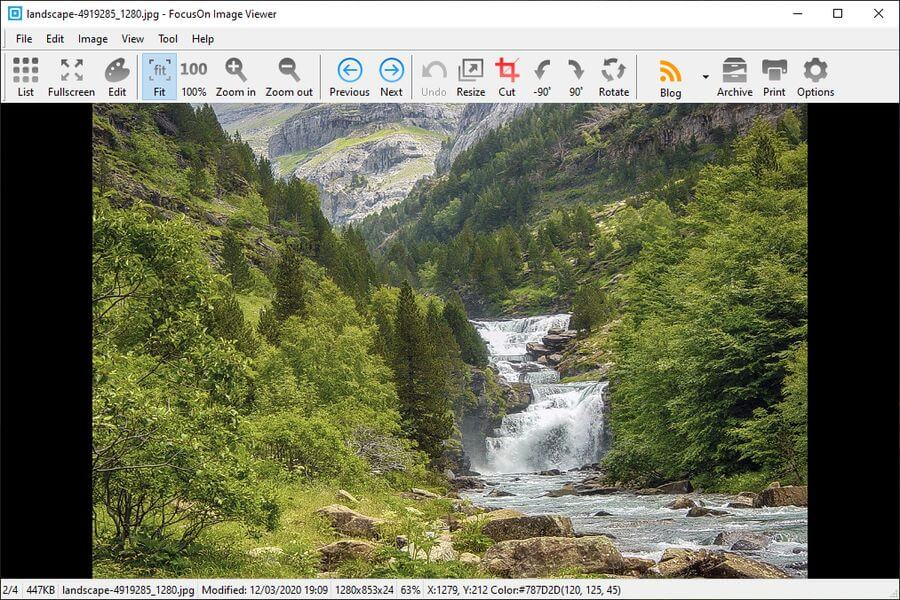 FocusOn Image Viewer: visualizador y editor para todo tipo de imágenes
