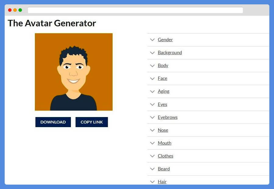 The Avatar Generator: crea bonitos avatares personalizados