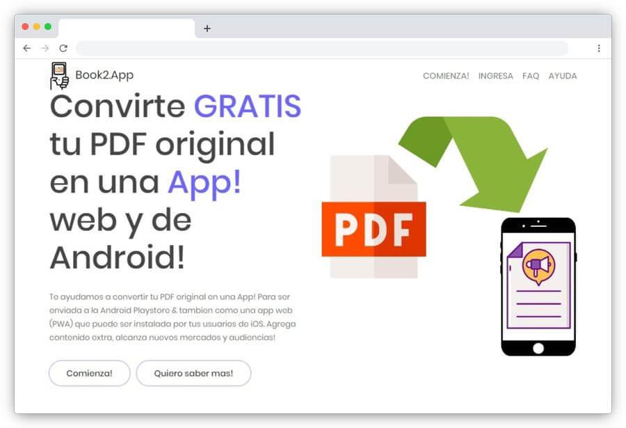 Book2App: convertir PDF a APK gratis para publicar en Google Play