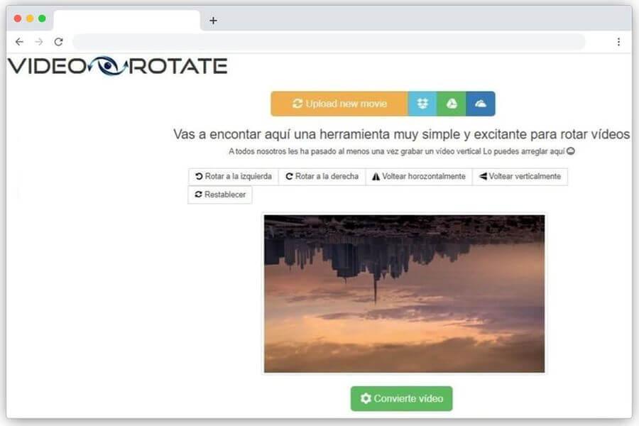 Cómo rotar un vídeo online y gratis con la ayuda de Video Rotate