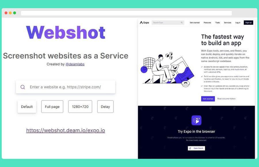 Capturar pantalla de páginas web online y gratis con Webshot