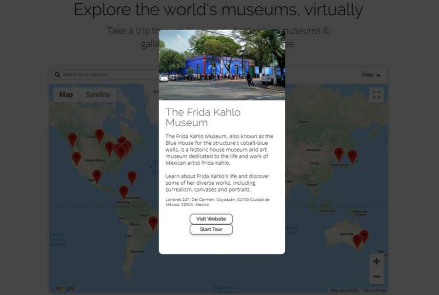 Visitas virtuales a Museos de todo el mundo con VirtualMuseums