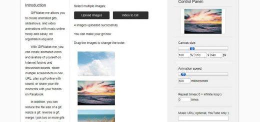 Crear animaciones GIF y vídeos