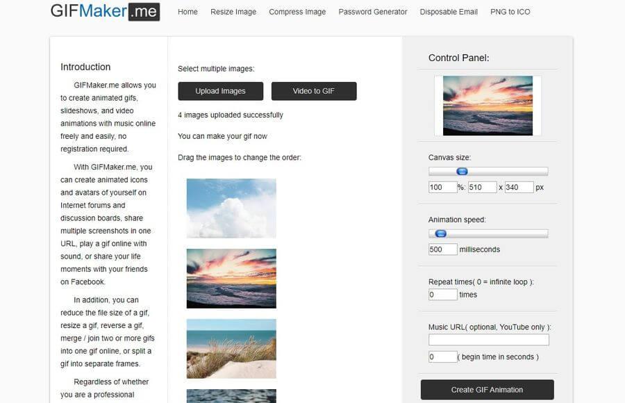 Crear animaciones GIF y vídeos de forma gratuita y online