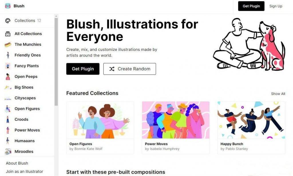 Personalizar y descargar ilustraciones gratuitas online en Blush