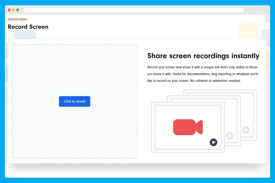 Shareit Video: grabar la pantalla y compartirla sin instalar aplicaciones