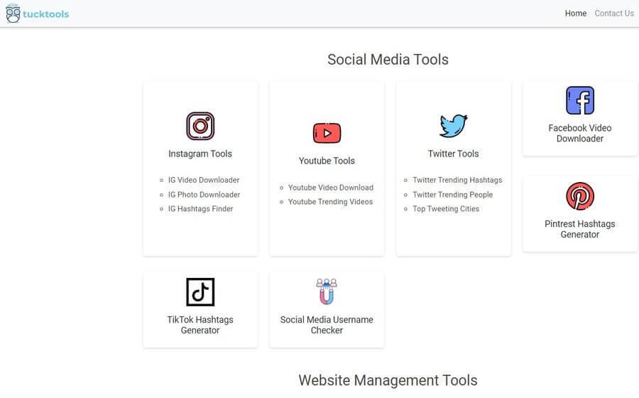 Tucktools: herramientas web gratuitas para social media, sitios web y más