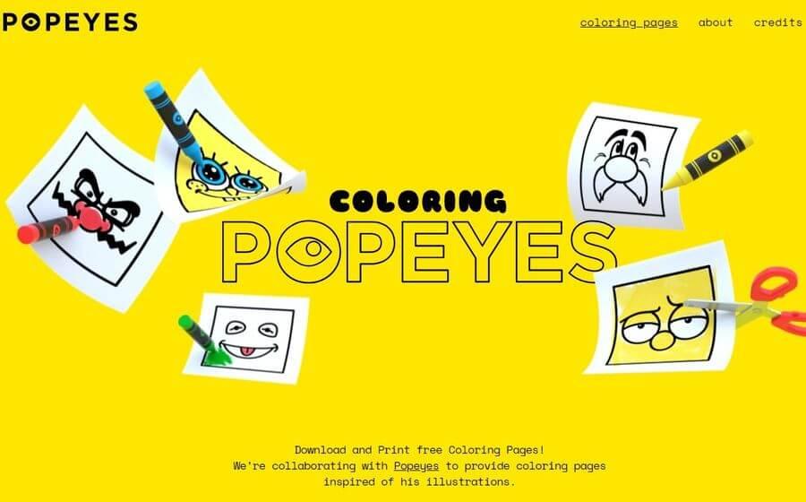 Coloring Popeyes: descarga e imprime dibujos para colorear