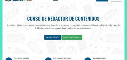 Curso de redactor de contenidos gratuito en Redactium