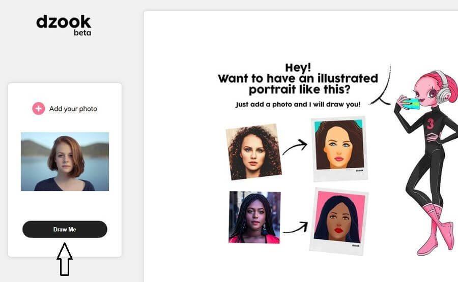 Cómo convertir fotos en ilustraciones artísticas gratis con Dzook