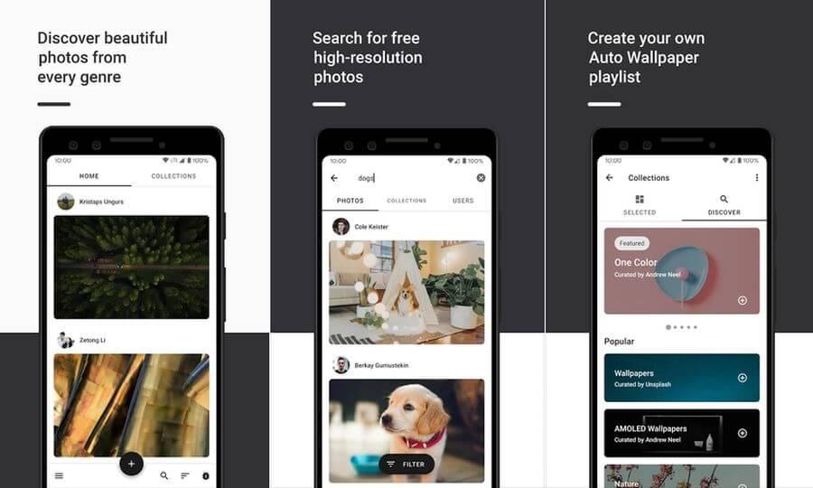 Resplash: todas las fotografías gratuitas de Unsplash en tu Android