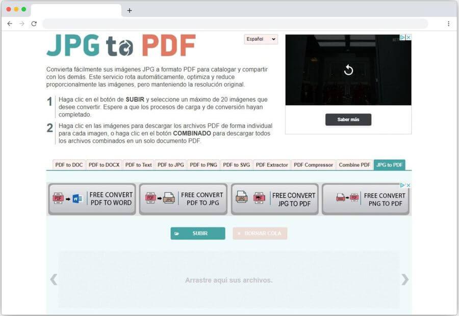 Cómo convertir JPG a PDF online y de forma gratuita