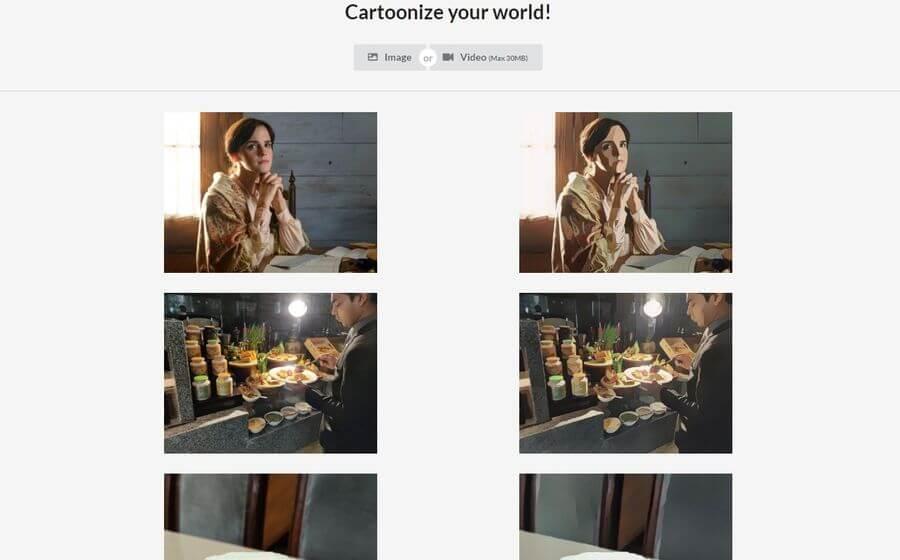 Convertir vídeos en cartoons o dibujos animados y también imágenes