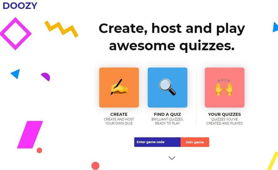 Doozy: web gratuita para crear y jugar a juegos tipo Quiz