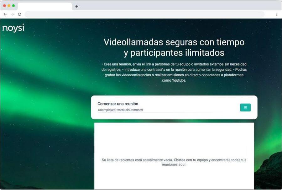 Noysi Meet: mejor plataforma web gratuita de videoconferencia