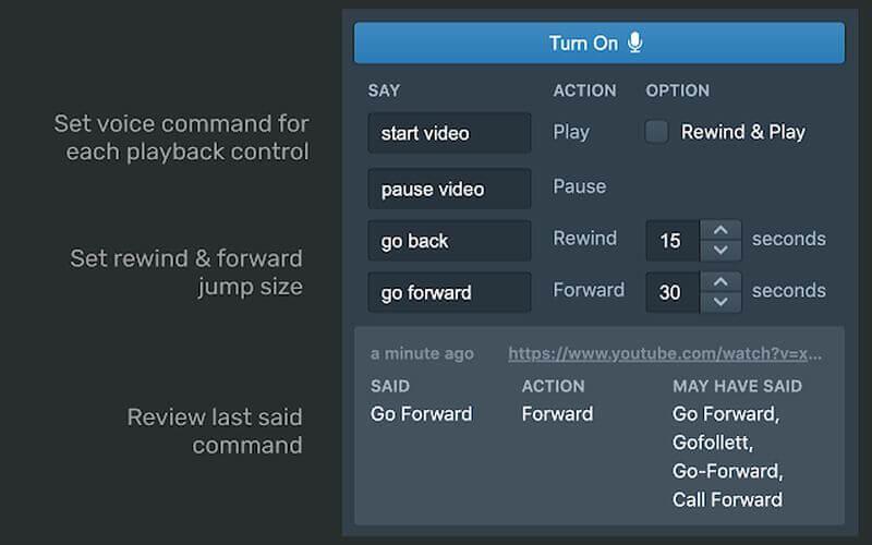 Say Play: controlar la reproducción de vídeos en Chrome con la voz