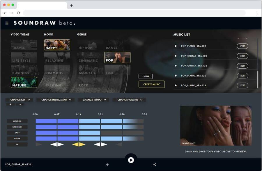 Soundraw: generador de música libre por medio de inteligencia artificial
