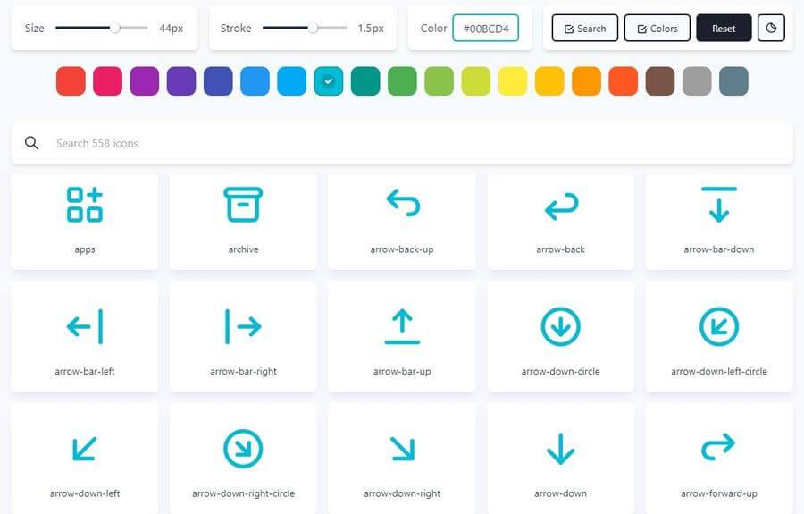Tabler Icons: más de 550 iconos gratuitos y personalizables