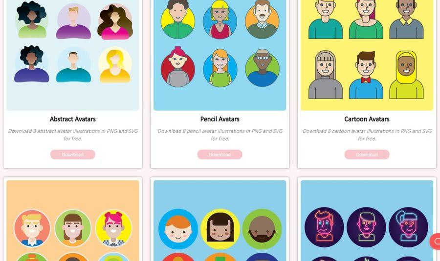 Ultimate Avatar Library: centenares de ilustraciones de avatares gratis