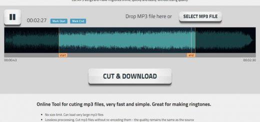 Cortar archivos Mp3 grandes online y gratis