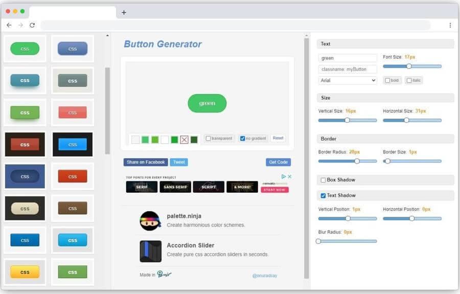Best CSS Button Generator: mejor generador gratuito de botones CSS