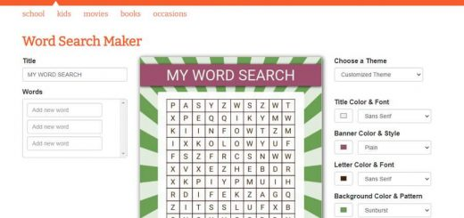 Crear sopas de letras para imprimir con Word Search Maker