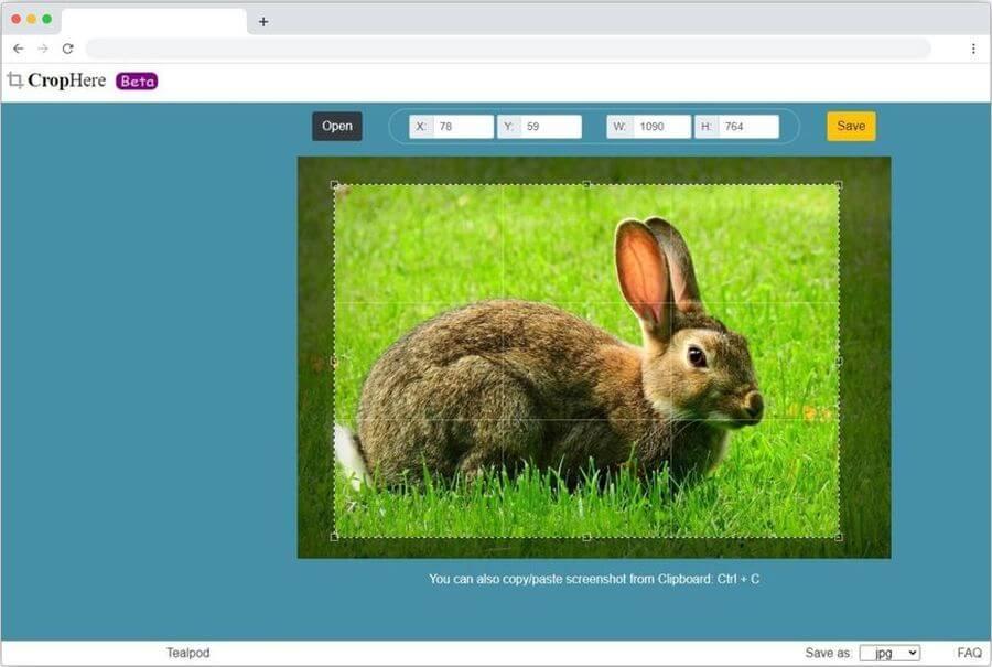 CropHere: la web más sencilla para cortar imágenes online