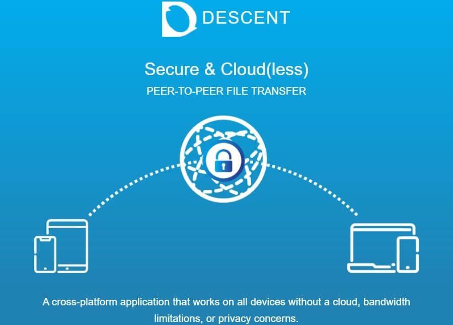 Descent Cloud: transferencia de archivos P2P sin límite de tamaño