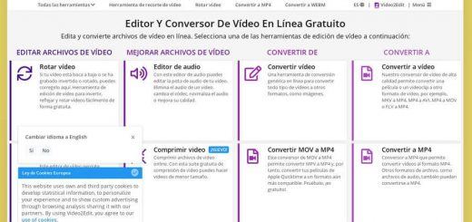 Editar y convertir vídeos online con Video2Edit