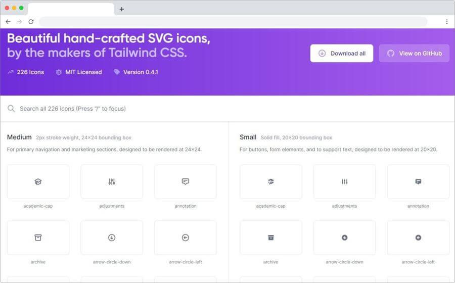 Heroicons: colección de bonitos iconos SVG gratuitos para tus proyectos