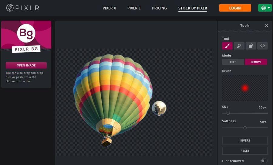 Remove Background por Pixlr: eliminar gratis el fondo de cualquier imagen