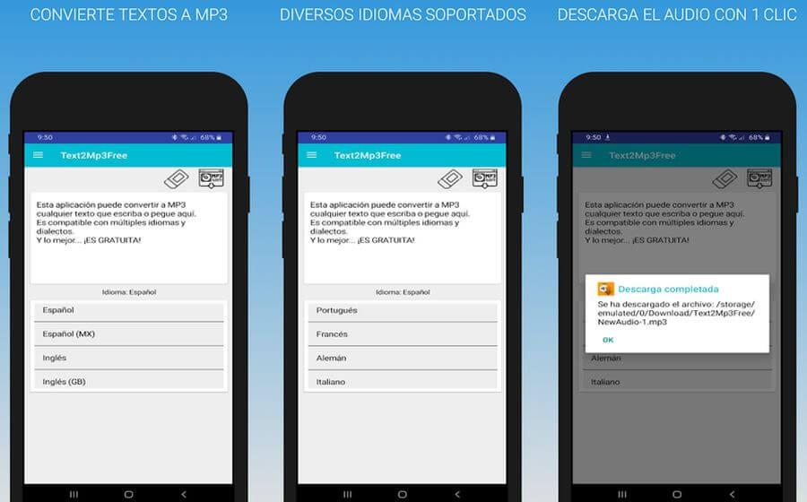 Text2Mp3Free: la app Android gratuita que convierte tus textos a MP3