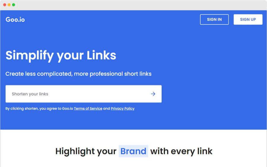 Acortador de enlaces simple, profesional y completamente gratuito