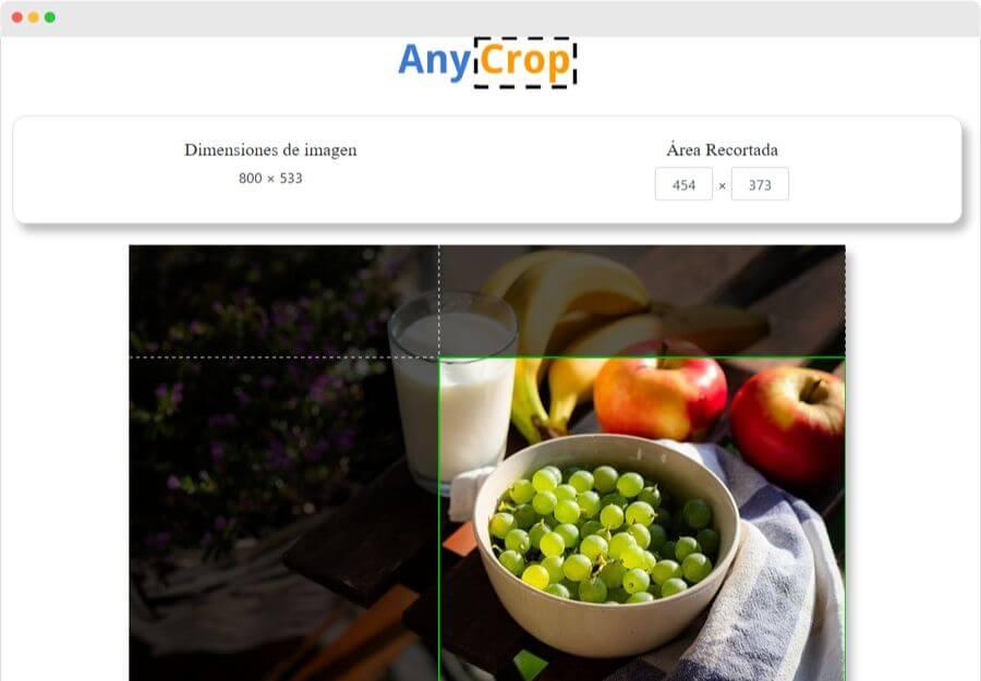 AnyCrop: una excelente herramienta para cortar imágenes y fotos
