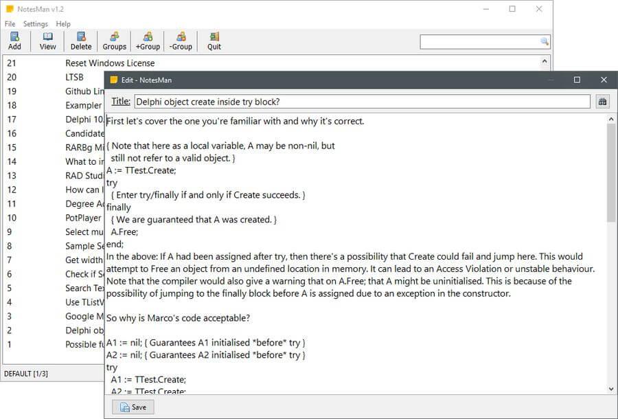 NotesMan: software gratis para crear y gestionar todo tipo de anotaciones